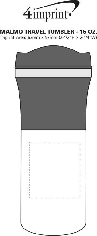 Imprint Area of Malmo Travel Tumbler - 16 oz.