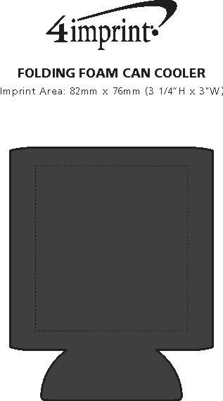 Imprint Area of Folding Foam Can Cooler