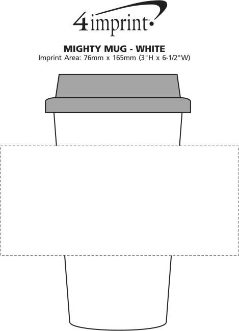 Imprint Area of Grand Ceramic Mug - White - 16 oz.