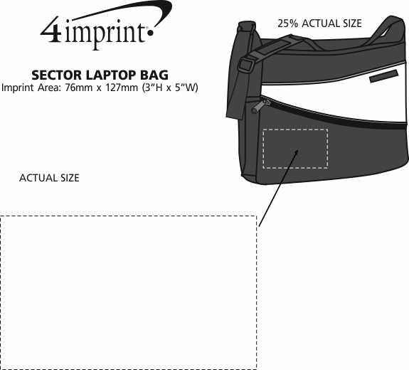 Imprint Area of Sector Laptop Bag - Closeout