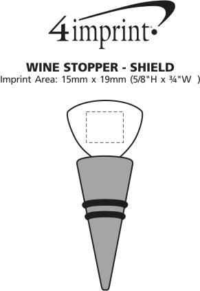 Imprint Area of Wine Stopper - Shield