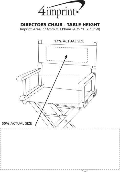 Imprint Area of Director Chair - Table Height - Imprinted