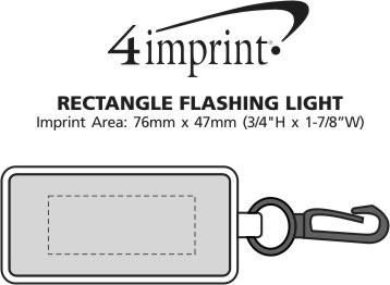 Imprint Area of Rectangle Flashing Light