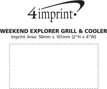 Imprint Area of Weekend Explorer Grill & Cooler