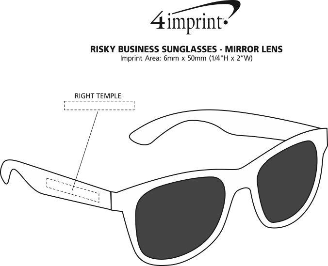 Imprint Area of Risky Business Sunglasses - Mirror Lens