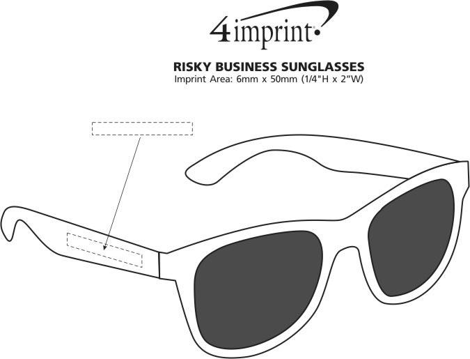 Imprint Area of Risky Business Sunglasses