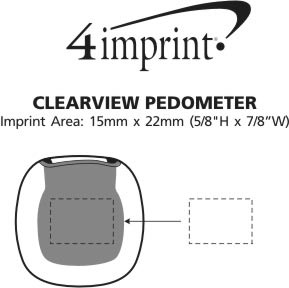 Imprint Area of Clearview Pedometer