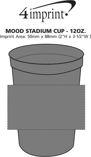 Imprint Area of Mood Stadium Cup - 12 oz.