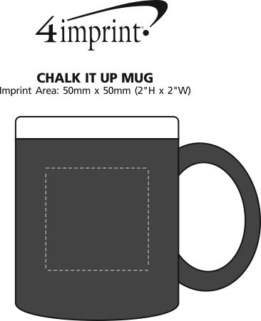 Imprint Area of Chalk It Up Mug - 11 oz.