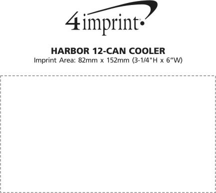 Imprint Area of Harbour 12-Can Cooler