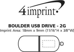 Imprint Area of Boulder USB - 2GB