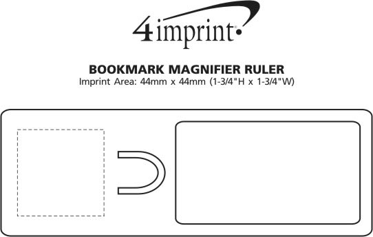 Imprint Area of Bookmark Magnifier Ruler