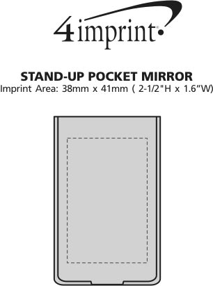 Imprint Area of Stand Up Pocket Mirror