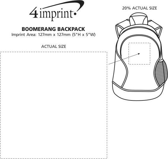 Imprint Area of Boomerang Backpack