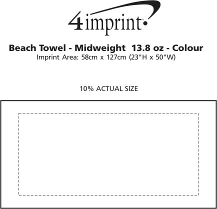 Imprint Area of Beach Towel - Midweight - Colours