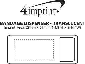 Imprint Area of Bandage Dispenser - Translucent