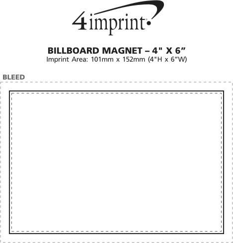 "Imprint Area of Billboard Magnet - 4"" x 6"""