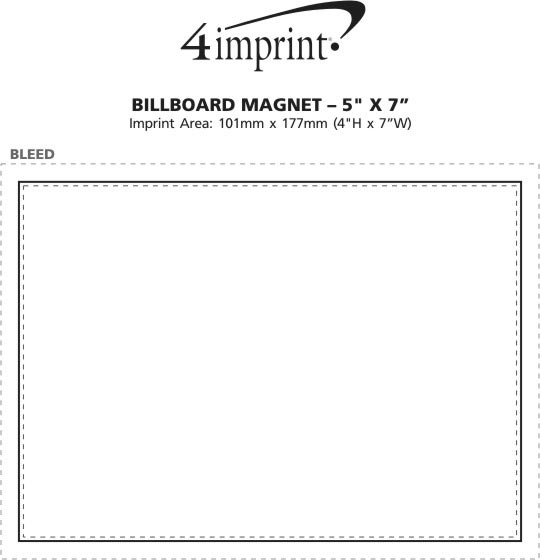 "Imprint Area of Billboard Magnet - 5"" x 7"""