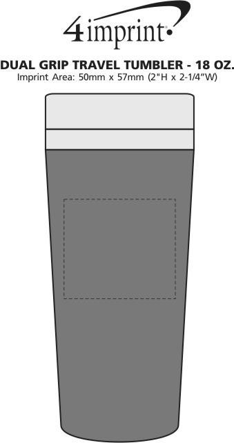 Imprint Area of Dual Grip Travel Tumbler - 15 oz.