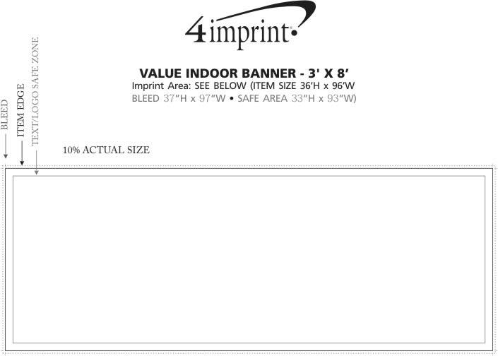Imprint Area of Value Indoor Banner - 3' x 8'