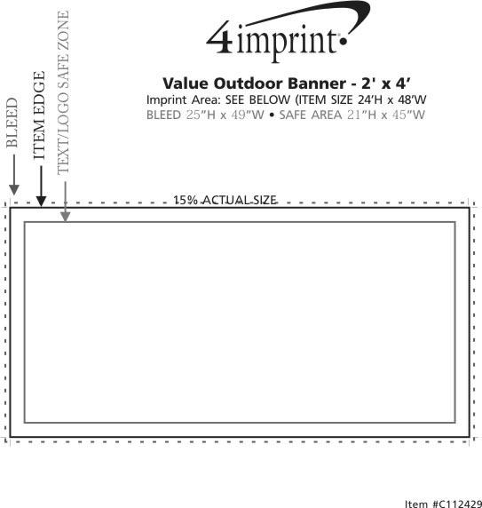 Imprint Area of Value Outdoor Banner - 2' x 4'