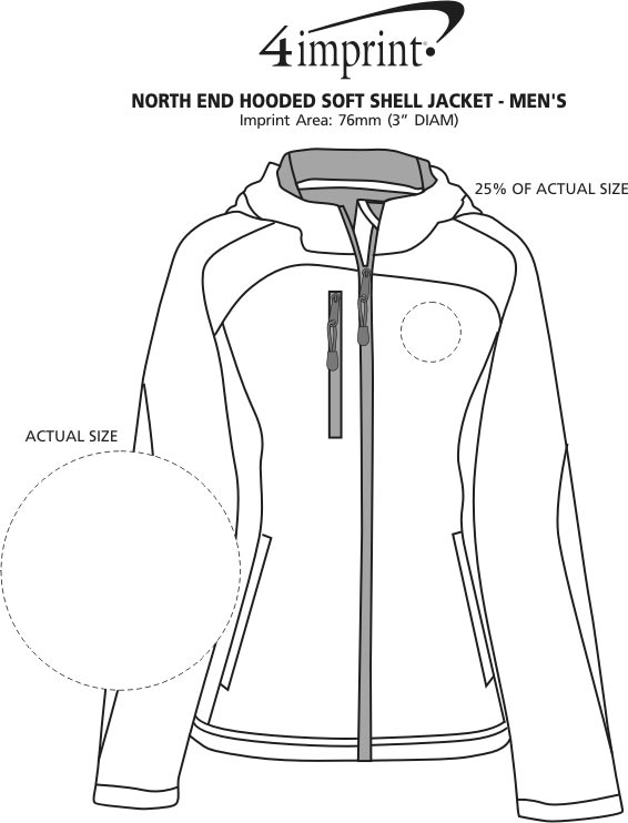 Imprint Area of North End Hooded Soft Shell Jacket - Ladies'