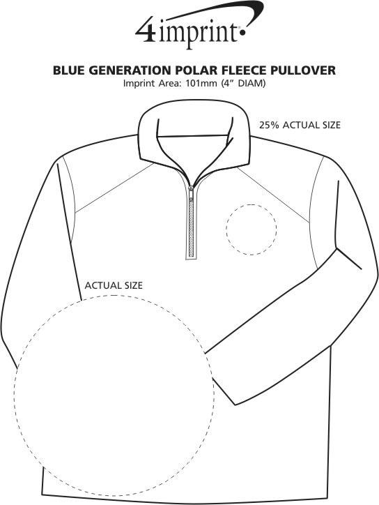 Imprint Area of Blue Generation Fleece Pullover