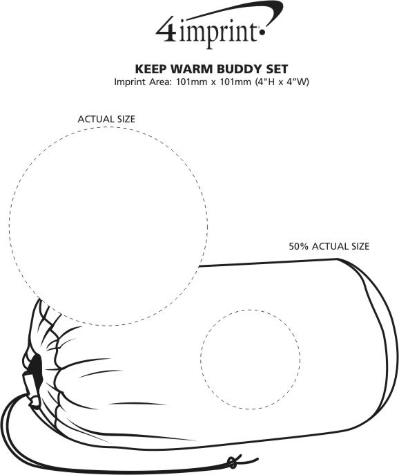 Imprint Area of Keep Warm Buddy Set