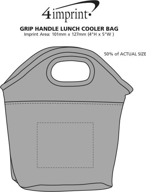 Imprint Area of Grip Handle Lunch Cooler Bag