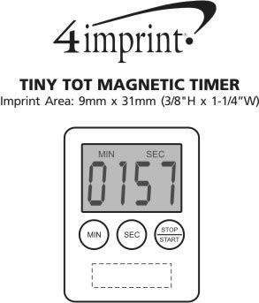 Imprint Area of Tiny Tot Magnetic Timer