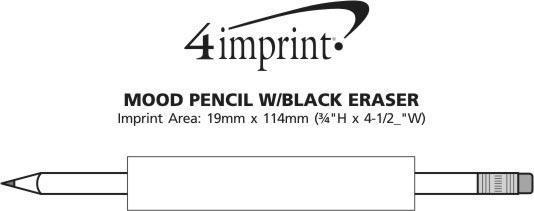 Imprint Area of Mood Pencil with Black Eraser