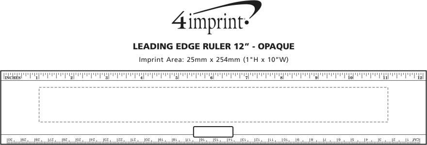 "Imprint Area of Leading Edge Ruler 12"" - Opaque"