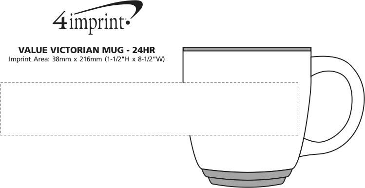 Imprint Area of Value Victorian Mug - 13 oz. -  24 hr