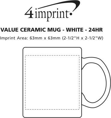Imprint Area of Value Ceramic Mug - White - 24 hr