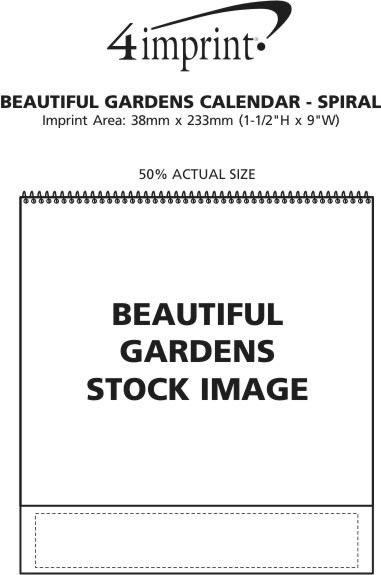 Imprint Area of Beautiful Gardens Calendar - Spiral