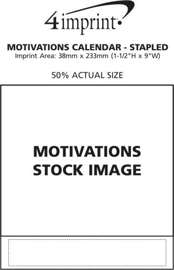 Imprint Area of Motivations Calendar - Stapled
