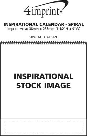 Imprint Area of Inspirational Calendar - Spiral