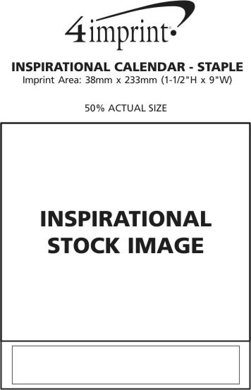 Imprint Area of Inspirational Calendar - Stapled