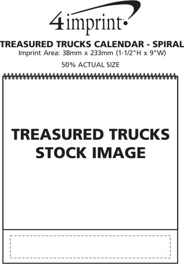 Imprint Area of Treasured Trucks Calendar - Spiral