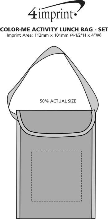 Imprint Area of Colour-Me Activity Lunch Bag Set