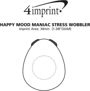 Imprint Area of Happy Mood Maniac Stress Wobbler