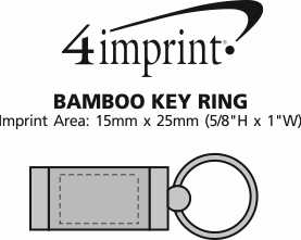 Imprint Area of Bamboo Key Ring