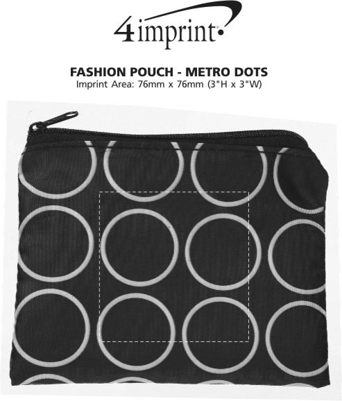 Imprint Area of Fashion Pouch - Metro Dots