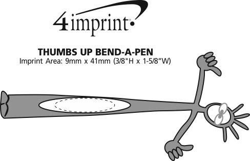 Imprint Area of Thumbs Up Bend A Pen