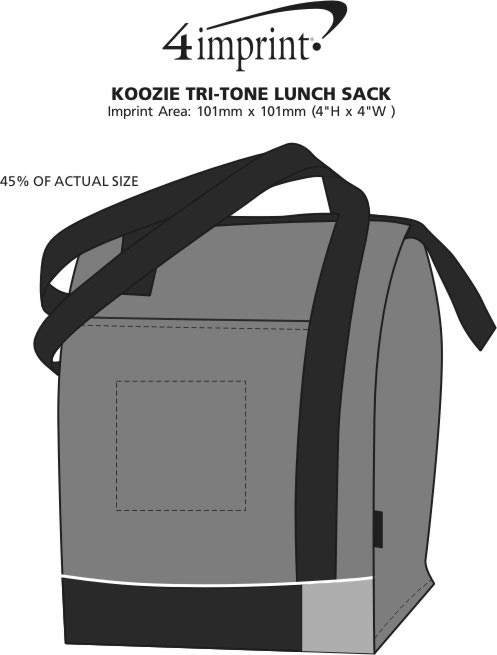 Imprint Area of Koozie® Tri-Tone Lunch Sack