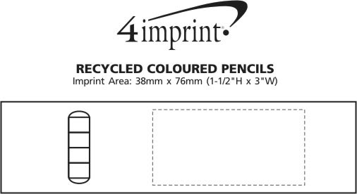 Imprint Area of Recycled Coloured Pencils