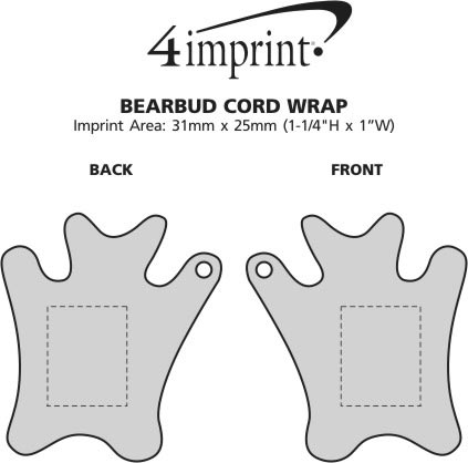 Imprint Area of Bearbud Cord Wrap