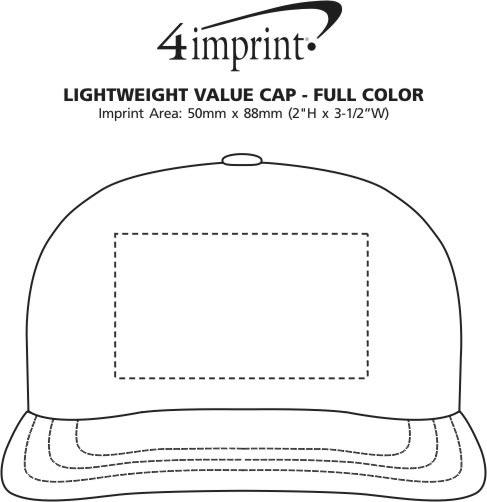 Imprint Area of Lightweight Economy Cap - Full Colour
