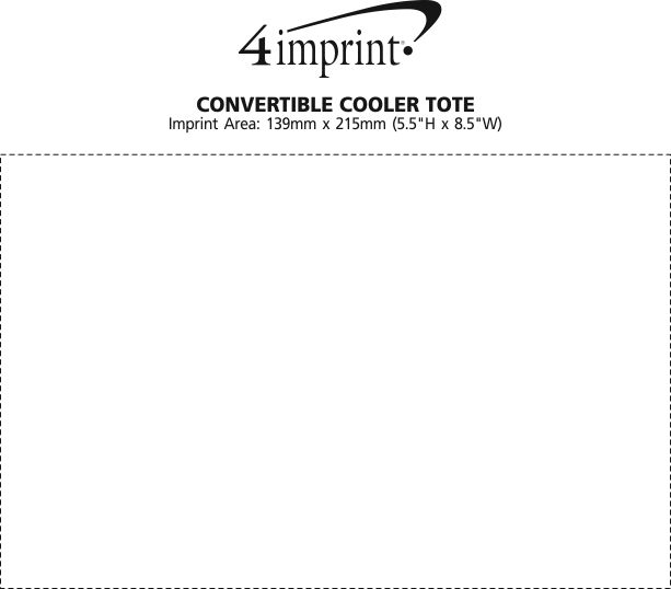 Imprint Area of Convertible Cooler Tote