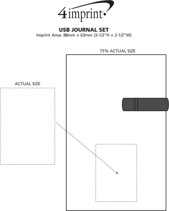 Imprint Area of USB Journal Set